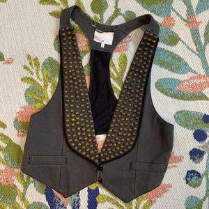 3.1 Phillip Lim Bronze Studded Gray Vest
